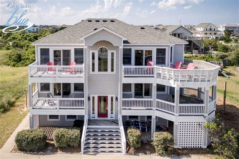 Outer Banks Vacation Rental Eight Bedroom House Ocean Side