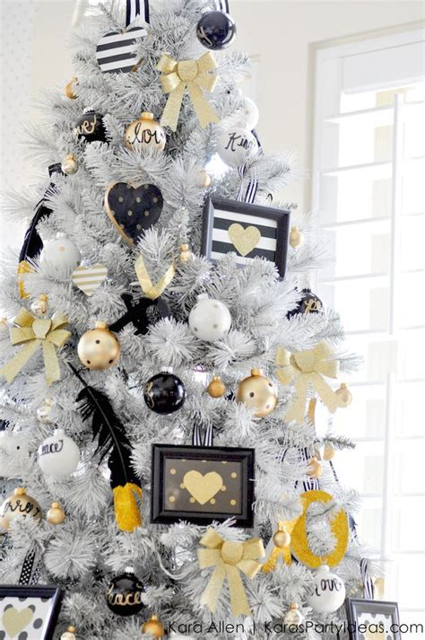 white christmas tree decorations pictures 20 chic decorating ideas with a black gold and