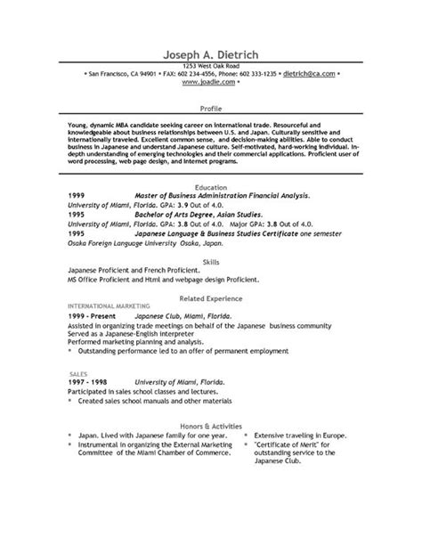 Templates For Resumes Microsoft Word by Free Resume Template Downloads Easyjob
