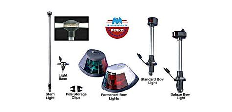 Cabela S Boat Navigation Lights by Perko Stowaway Bow And Lights Cabela S