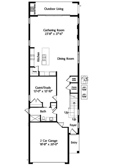 narrow floor plans mediterranean narrow house 2 3 not so big house