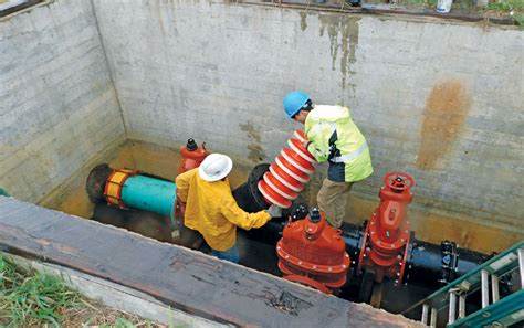 raw water transmission main internal cleaning project nets