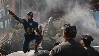 Avengers Captain America Pointing Marvel Screenshots Movies