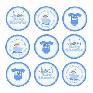 EK Design Gallary - Baby Boy Thank you Tags Cupcake Toppers