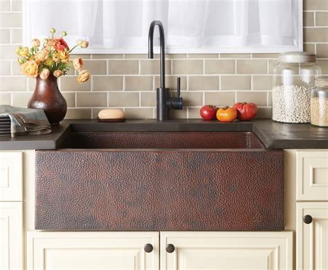 farmhouse copper kitchen sink copper farmhouse kitchen sink country kitchens 7146