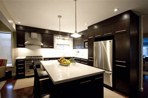 dark brown kitchen modern kitchen toronto by