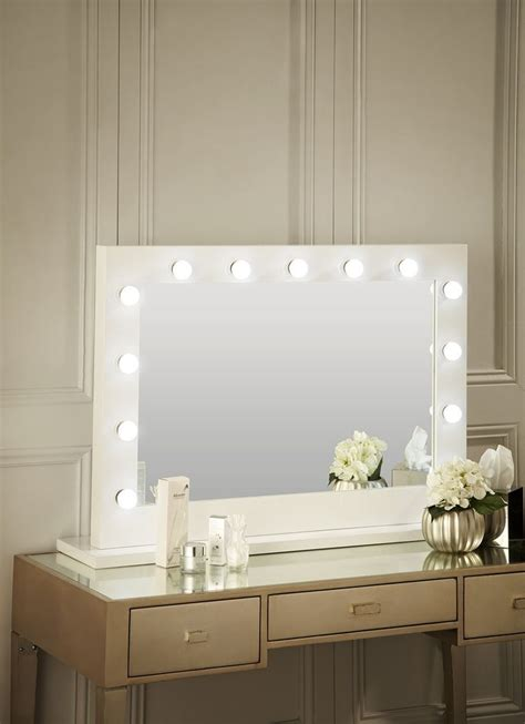bedroom mirrors with lights around them 17 best ideas about white gloss dressing table on 20275 | 83961e909ecb165fb137d4cf35914a22