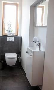 Bilder Gäste Wc : g ste wc waschbecken f r schmale toilette ~ Markanthonyermac.com Haus und Dekorationen
