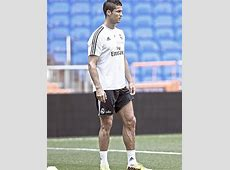 Cristiano Ronaldo's incredibly veiny legs pictured at Real