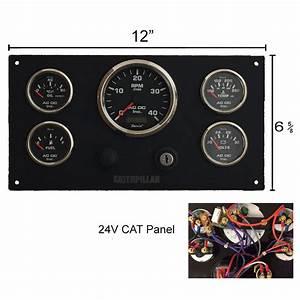 24 Volt Cat Engine Instrument Panel  U2013 Ac Dc Marine Inc