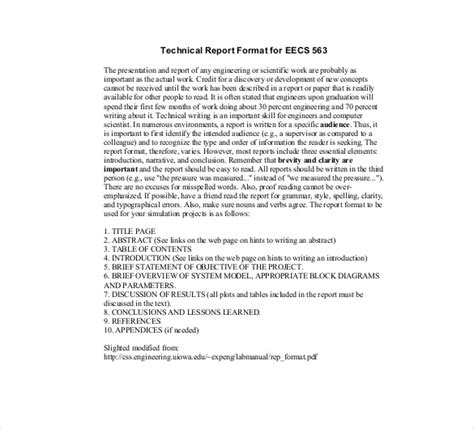 technical report template 7 technical report templates doc pdf free premium templates
