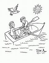 Row Boat Coloring Colouring Clipart Pages Rowboat Preschool Boating Rowing Sheet Drawing Template Ad Nursery Everythingpreschool Pdf Rhymes Print Everything sketch template