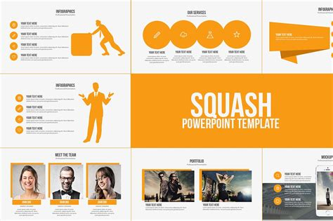 how to add template to powerpoint squash powerpoint template presentation templates creative market