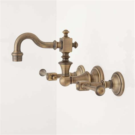 kitchen sink knobs vintage brass faucet handle 2758