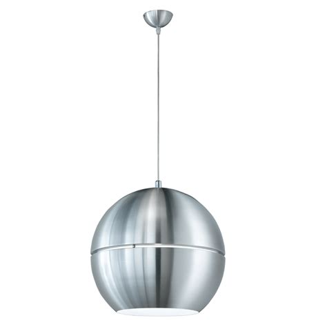 globe pendant light shades brushed aluminium metal