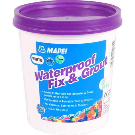 Waterproof Tile Adhesive Shower by Mapei Waterproof Fix Grout Tile Adhesive 1 5kg White