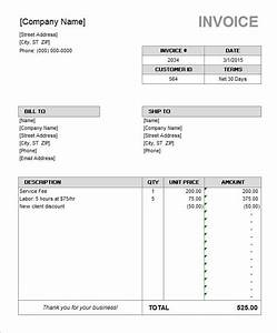 55 microsoft invoice templates pdf doc xls free With ms office invoice template