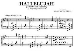 Hallelujah (Yacht Club version) (PDF), by Fats Waller