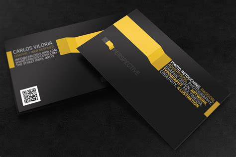 business card perspective business card templates