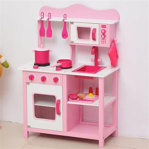 Kiddie Kitchen Play Set by Homcom Wooden Kitchen Pink Kitchen Playset On Onbuy