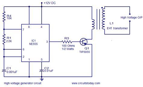 High Voltage Generator Circuit Electronic Circuits