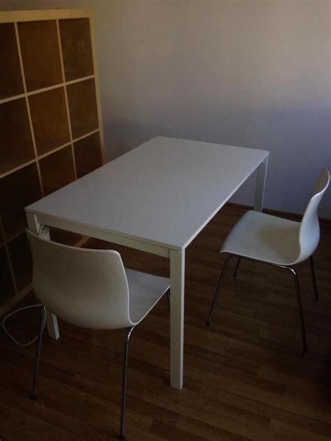 Ikea Tisch Kleinanzeigen by Tisch Ikea Melltorp Mit Zwei St 252 Hlen Ikea Erland In