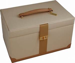 Large Cream  U0026 Tan Leather Jewellery Boxes  U0026 Large Leather