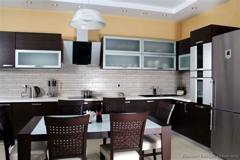 pictures  kitchens modern dark wood kitchens