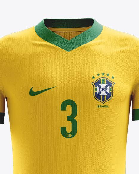 Football kit with v neck t shirt mockup free