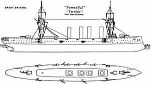 Datei Powerful Class Cruiser Diagram Brasseys 1897 Jpg