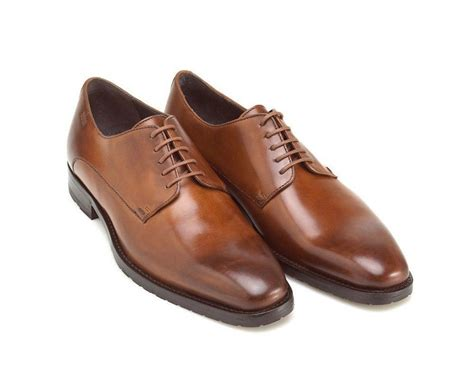 Brown Shoes : Handmade Men Brown Oxford Dress Shoes With Laces 2 Tone