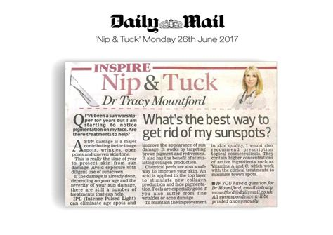 whats the best way tohang lights on a tree vertical or horizonatal daily mail nip tuck what s the best way to get rid of sunspots the cosmetic skin clinic