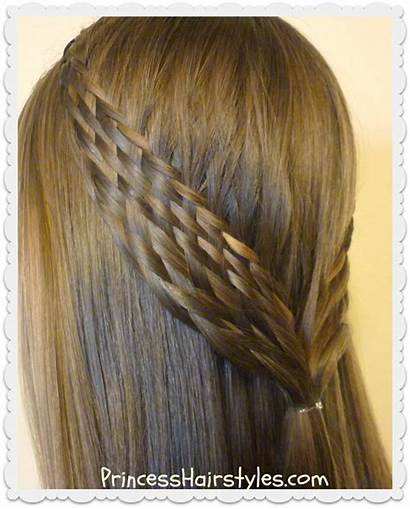 Hairstyle Woven Pull Braid Hairstyles Tie Half