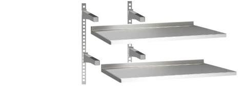 mensole in acciaio per cucina horeca select doppia mensola in acciaio 160x30 metro