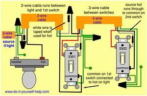 3 Way Switch Wiring Diagram  Source And Light First