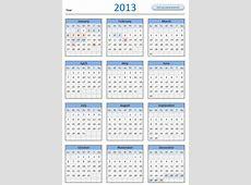 FREE 2013 Calendar Download and Print Year 2013 Calendar