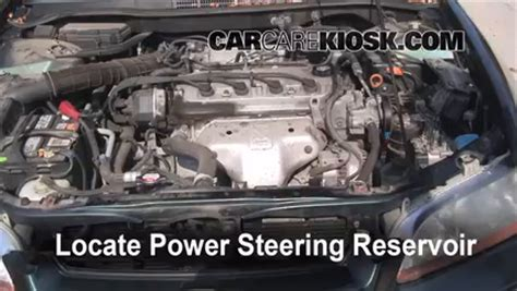 Follow These Steps Add Power Steering Fluid Honda