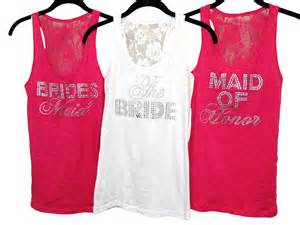 bridesmaids shirts a gift with personality and message thanking the bridesmaids with personalized t shirts