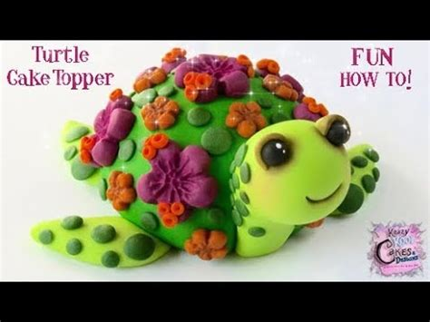 Turtle Cake Decorations - turtle cake topper how to