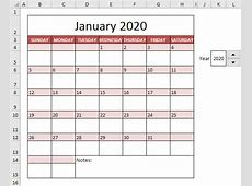 Calendar Template in Excel Easy Excel Tutorial
