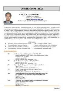 qa qc resume edwin cv for qa qc manager