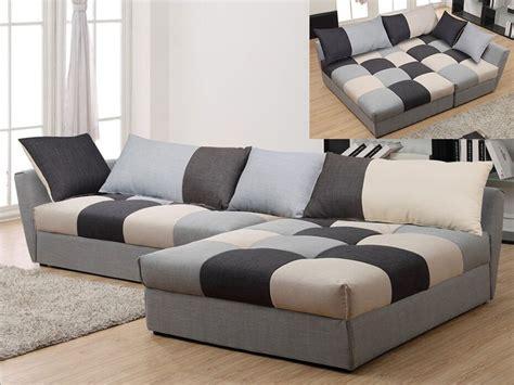 canapé angle convertible canapé angle convertible en tissu gris ou chocolat romane