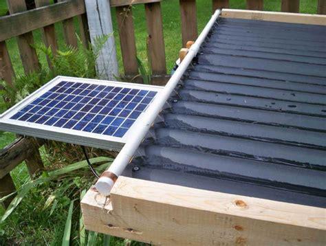 solar powered heat l simple cheap solar pool heater