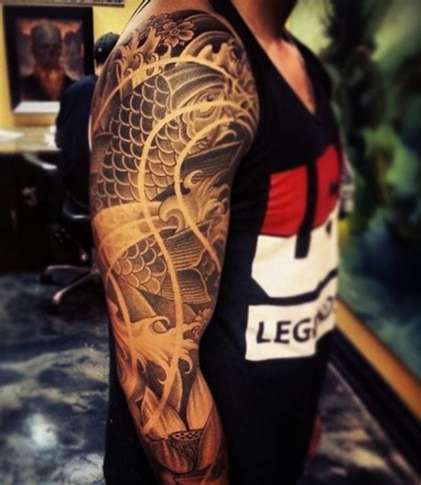 tatouage bras homme japonais idees de tatouages  piercings