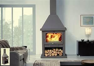 Cheminée à Bois : pole chemine en acier combustion bois otis ~ Premium-room.com Idées de Décoration