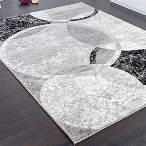 Wohnzimmer Bild Grau : designer teppich wohnzimmer teppich kreis muster in grau ~ Michelbontemps.com Haus und Dekorationen