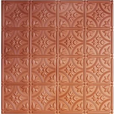 Ceiling Tiles Home Depot by Global Specialty Products Dimensions 2 Ft X 2 Ft Copper