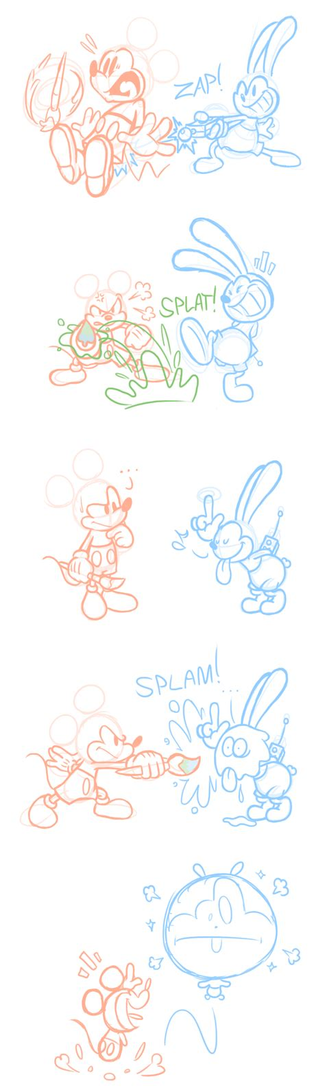 Epic Mickey 2 Comic Battle Of The Bros By