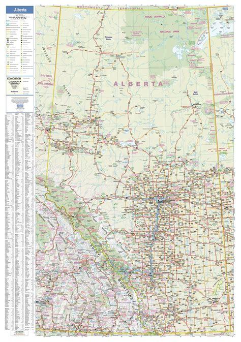 detailed map  alberta