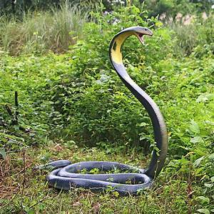 Lifesize King Cobra Snake Statue - The Green Head